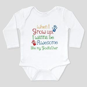 Awesome Godfather Long Sleeve Infant Bodysuit