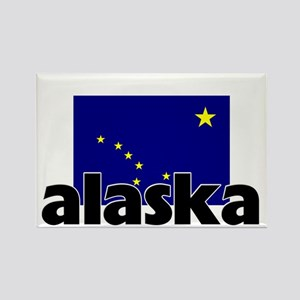 I HEART ALASKA FLAG Rectangle Magnet
