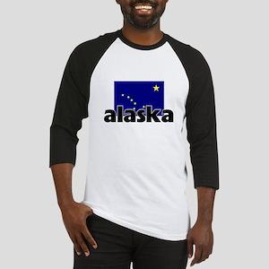 I HEART ALASKA FLAG Baseball Jersey