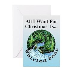 Christmas Peas Greeting Cards (Pk of 20)