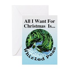 Christmas Peas Greeting Card