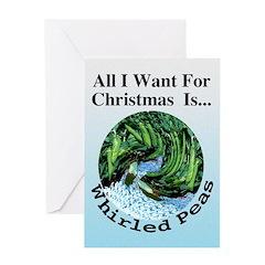 Christmas Peas Greeting Card