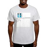 FI Big Attitude Epee Fencing Toon Ash Grey T-Shirt
