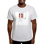 FI Big Attitude Fencing Toon Ash Grey T-Shirt