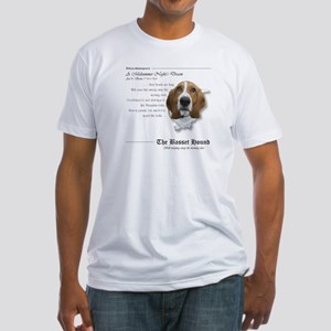 Shakespeare Basset Quote Fitted T-Shirt