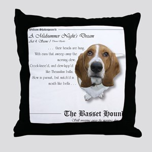 Shakespeare Basset Quote Throw Pillow