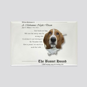 Shakespeare Basset Quote Rectangle Magnet