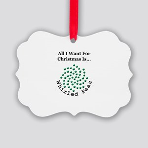Christmas Peas 2 Picture Ornament