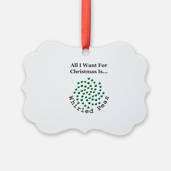Christmas Peas 2 Ornament
