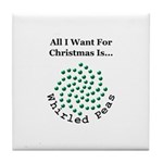 Christmas Peas 2 Tile Coaster