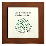 Christmas Peas 2 Framed Tile