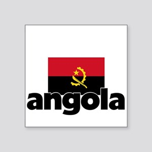 I HEART ANGOLA FLAG Sticker