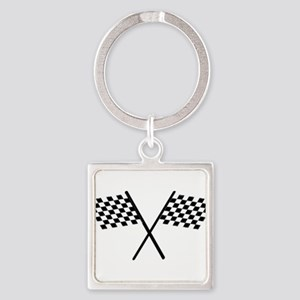 Racing Checkered Flags Keychains