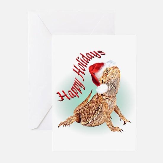 Bearded Dragon Santa Greeting Cards (Pk of 10)
