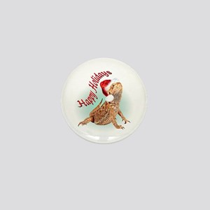 Bearded Dragon Santa Mini Button