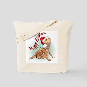 Bearded Dragon Santa Tote Bag