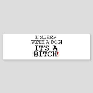I SLEEP WITH A DOG! Bumper Sticker