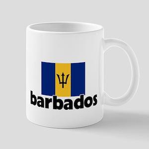 I HEART BARBADOS FLAG Mug