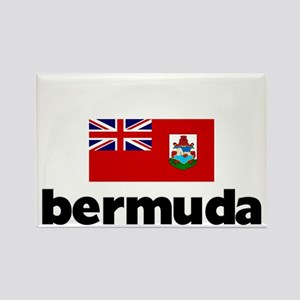 I HEART BERMUDA FLAG Rectangle Magnet