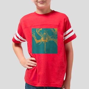 leopard on tree 3 Youth Football Shirt