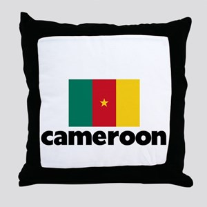 I HEART CAMEROON FLAG Throw Pillow