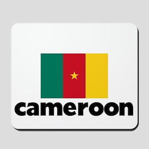 I HEART CAMEROON FLAG Mousepad