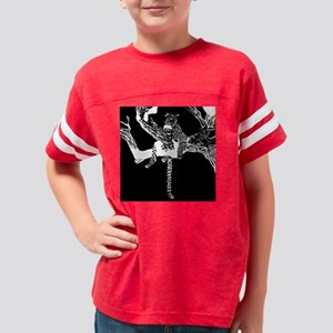 leopard on tree 5 Youth Football Shirt