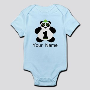 Personalized Panda 1st Birthday Body Suit