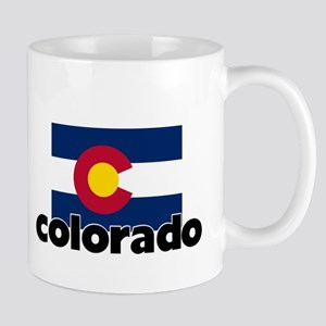 I HEART COLORADO FLAG Mug