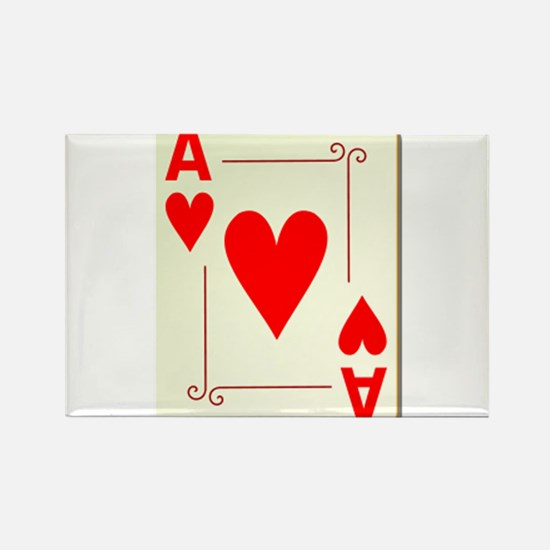 Ace of Hearts Playing Card Rectangle Magnet