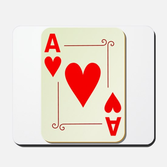 Ace of Hearts Playing Card Mousepad