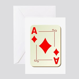 Ace of Diamonds Playing Card Greeting Card