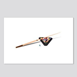 Pool Cue Stick and Balls Postcards (Package of 8)