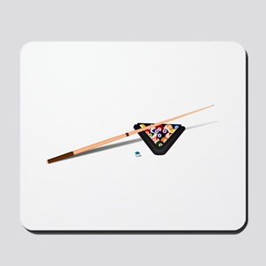 Pool Cue Stick and Balls Mousepad