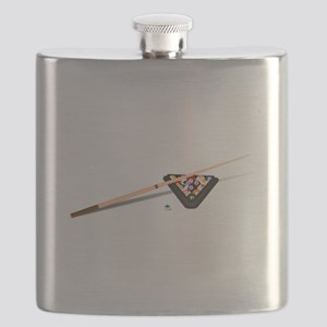 Pool Cue Stick and Balls Flask