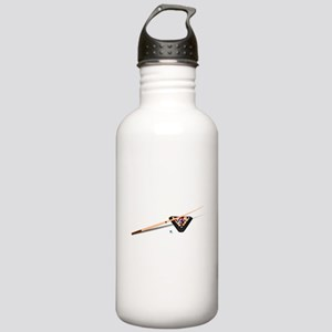 Pool Cue Stick and Balls Water Bottle