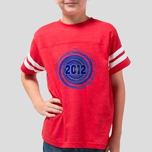 GRAD-2012 BLUE SWIRL 2 Youth Football Shirt