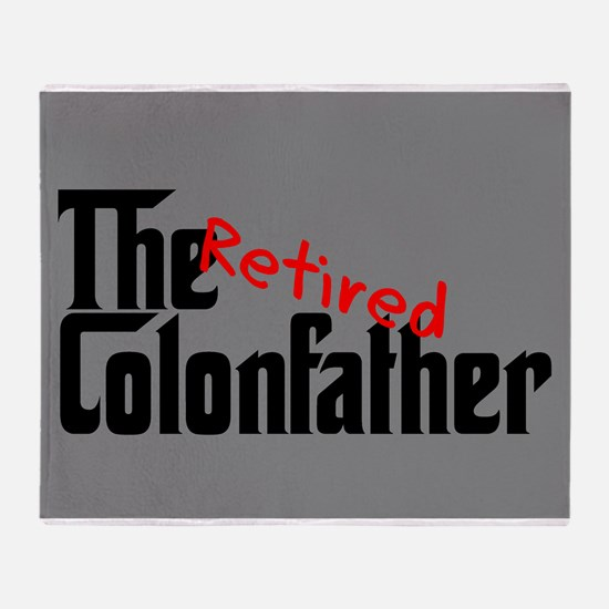 the colon father retired blanket Throw Blanket