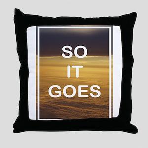 KURT VONNEGUT DESIGN Throw Pillow