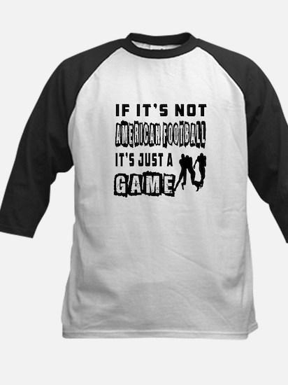 American Football Designs Kids Baseball Jersey