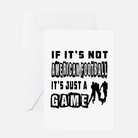 American Football Designs Greeting Card