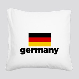 I HEART GERMANY FLAG Square Canvas Pillow
