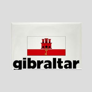 I HEART GIBRALTAR FLAG Rectangle Magnet