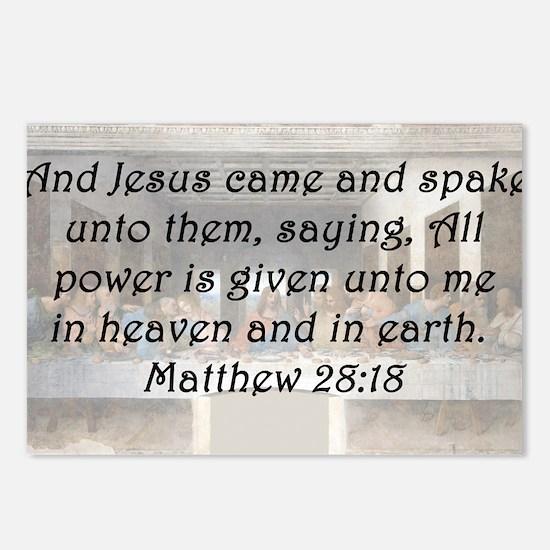 Matthew 28:18 Postcards (Package of 8)