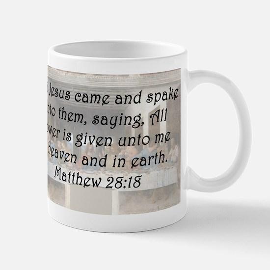 Matthew 28:18 Mug