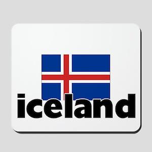 I HEART ICELAND FLAG Mousepad