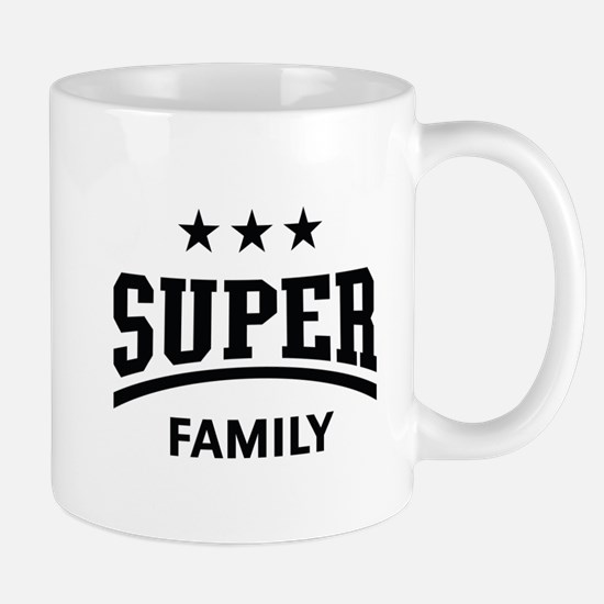 Super Family (Black) Mug