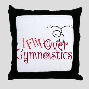 I Flip Over Gymnastics Throw Pillow