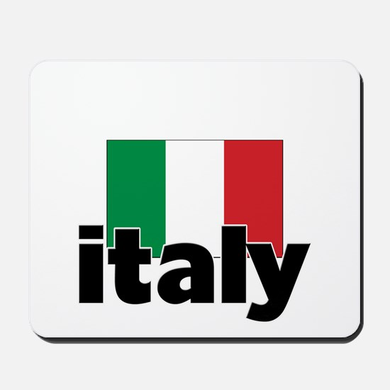 I HEART ITALY FLAG Mousepad