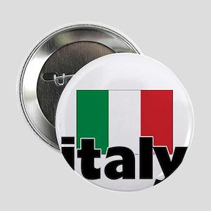 "I HEART ITALY FLAG 2.25"" Button"
